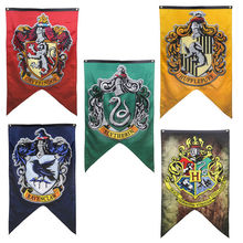 Gryffindor Slytherin Ravenclaw Hogwarts College Harry Potter House Banner Flag