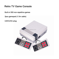 2017 Christmas gift MINI retro game console built-in 500 classic games video TV gamepad