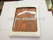 Unique Handmade Natural Wood Wooden Hard bamboo Case Cover for Apple iPad 2 3 4