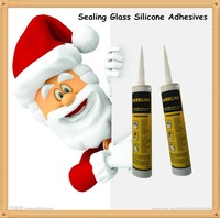 Transparent acetic curing glass silicone seal adhesive &sealant