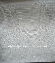 White crocodile pattern artificial leather