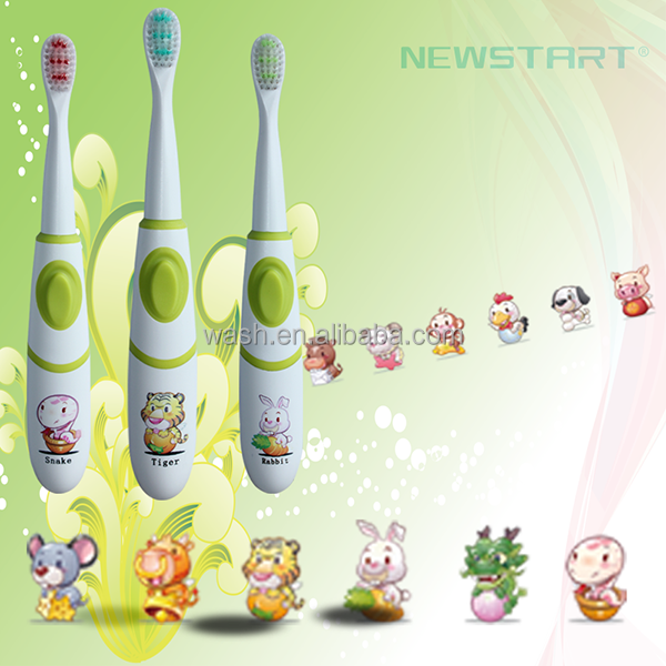 Hot selling waterproof battery power cute sonic kids electric toothbrush china