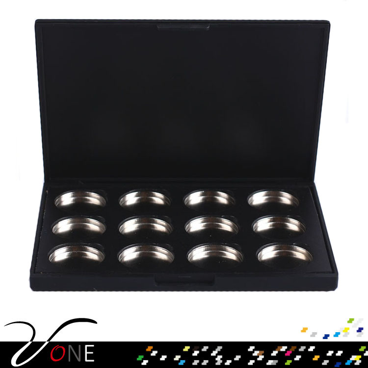 Cosmetic Empty 12 pcs Magnetic Eyeshadow palette with magnet or iron pan