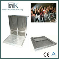 Portable barrier aluminum folding temporary barrier