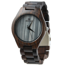 Wholesale personal natural wristwatch custom logo brand marble dial wood watches men