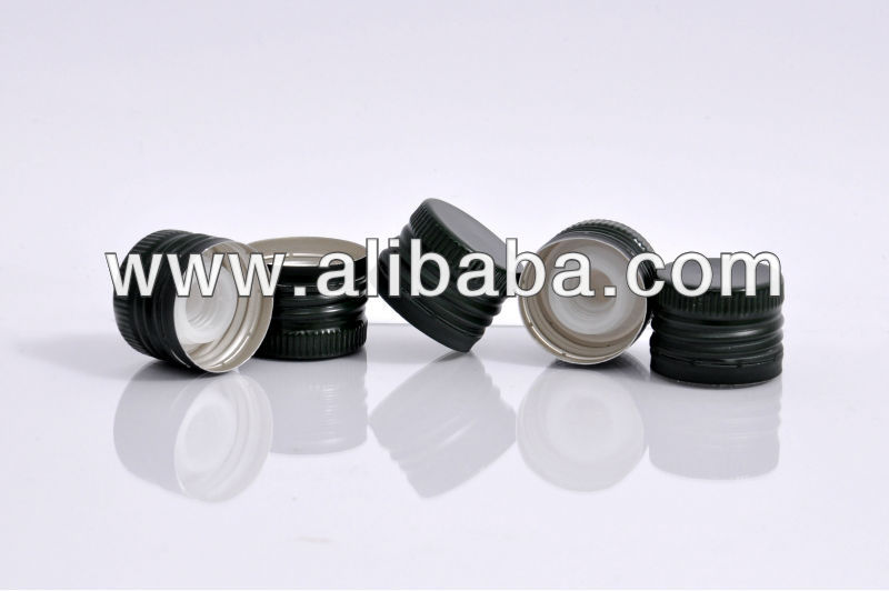 Pre-threaded aluminum caps for glass products