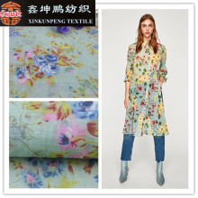 woven plain eco-friendly floral printed rayon nylon spandex fabric for shirts