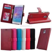 Shenzhen cell phone case cover mobile phone leather case for Samsung Note 4