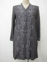 vented cotton / chiffon kurta for ladies with embroidery