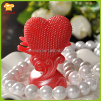 Valentine's day heart pigeons candle silicone cake mould wedding soap mold