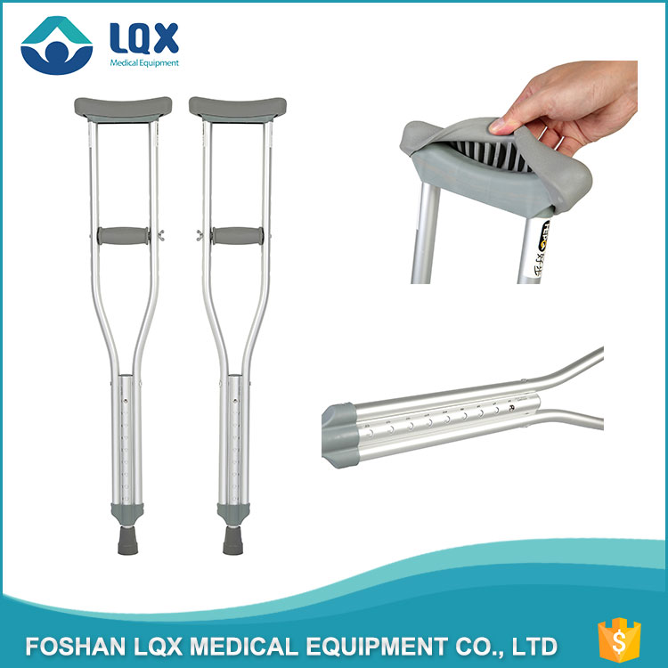 telescopic medical health care height adjustable collapsible axillary crutches for disabled