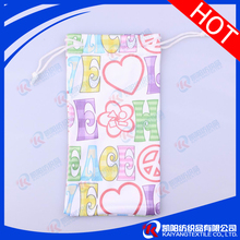 Customized jewellery 100% polyester microfiber small drawstring pouches
