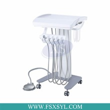 CE approved factory price portable unit with air compressor/mobile dental unit