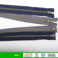 5# metal antic brass teeth zipper double way open end zipper two sliders zipper