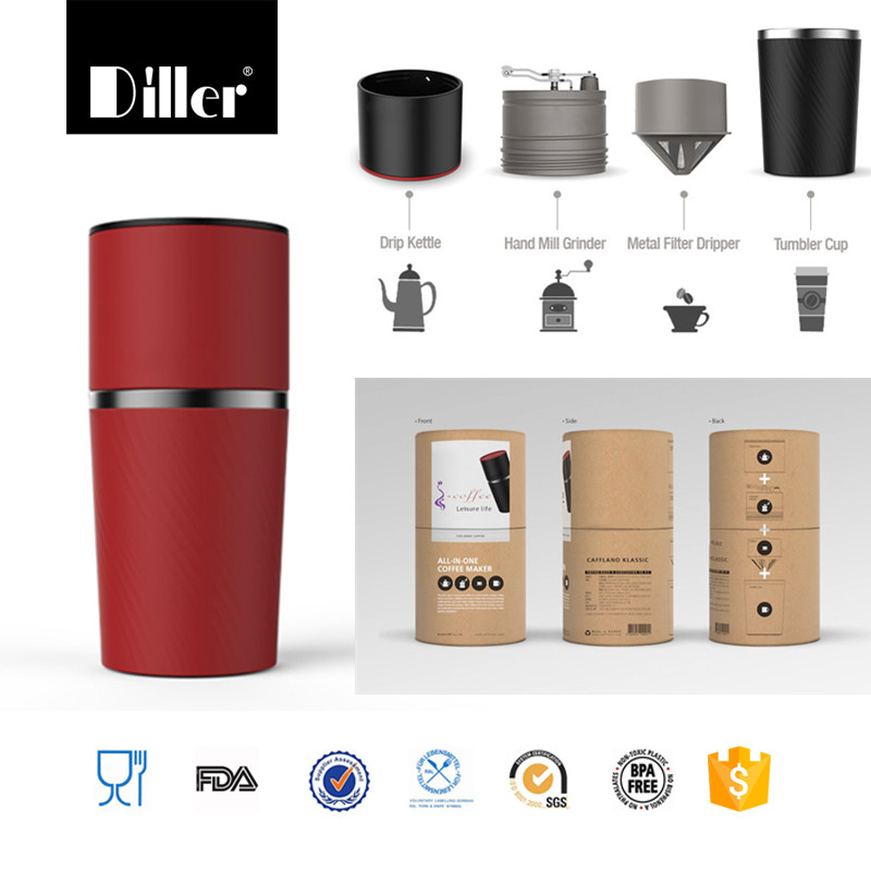 Newly product all in one portable car french press stainless steel coffee maker