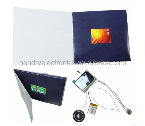7 inch advertising video book video booklet/lcd video book