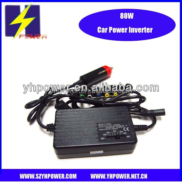 factoty 80W 4a universal laptop car adapter 15v