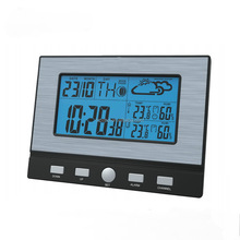 Home Professional Automatic rf 433mhz Wireless Weather Station Clock With Indoor & Outdoor Tempeature Display