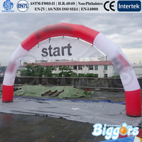 Red Inflatable Rainbow Arch For Charity Event