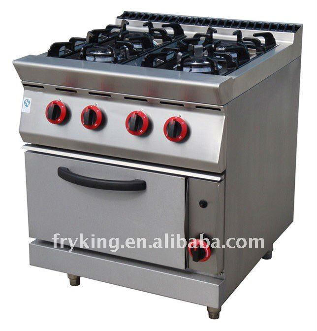 Gas Range with 4 Burners and Oven