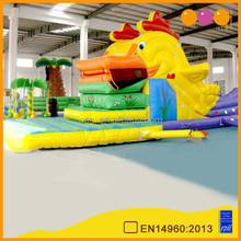 AOQI newest hard-wearing top quality inflatable slide with bouncy house for promotion