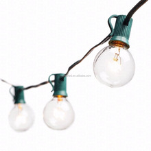 Globe String Lights with G40 Bulbs UL Listed 25ft Outdoor Patio Light