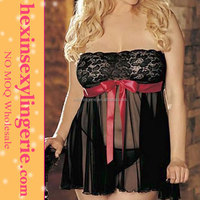 Hot fat women sexy lingerie babydoll first night sexy dress
