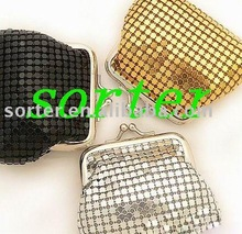 fashionable metal sequin cloth party purse materials