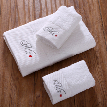 Quick Dry China 100% Cotton Jacquard Satin Hotel Bath Towel Set with Embroidered Custom Logo