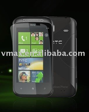 Hotest model,Ultra Clear screen protector lcd screen protector for htc 7 mozart T8698 HD