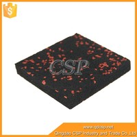 Made in CHINA crossfit rubber floor mat,black with EPDM speckles rubber gym flooring