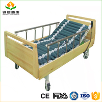 Deluxe imported pine solid wood and electric manual two faction patient bed