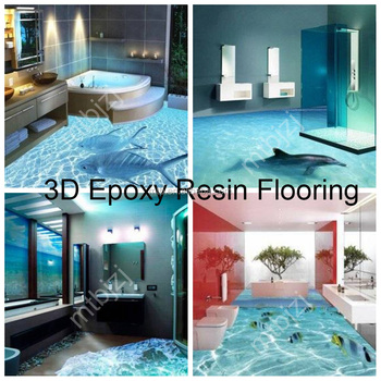 Waterproof Anti-slip 3D Epoxy floor for Home Floor Decoration