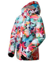 Adult women colorful snowboard jacket, multi-functional crane sports ski snow wear for