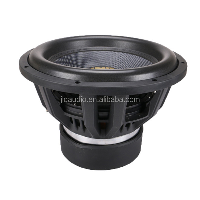 15inch car audio subwoofer for car 300 Oz manget motor 4 ohm and 1500w rms subwoofer from JLD audio