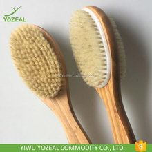 Long handle wooden double side dry skin body brush