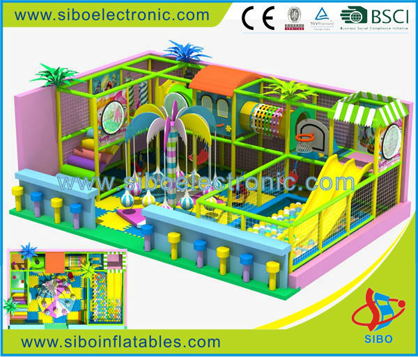 GMB-D SIBO 2016 fantastic amusement park nice playground soft play indoor inflatable baby climbing toys