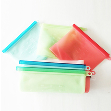 High Quality Custom Reusable Silicone Plastic Large Zip Lock Vegetable Liquid Storage Bags