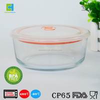 FDA Standard Glass Food Storage Container with Airtight Lid / Plastic Lid