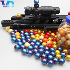 ASTMF-04 standard 0.68 inch caliber biodegradable paintballs with colorful China manufacturer