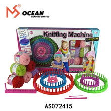 Girl's gift DIY plastic knitting needle machine toy