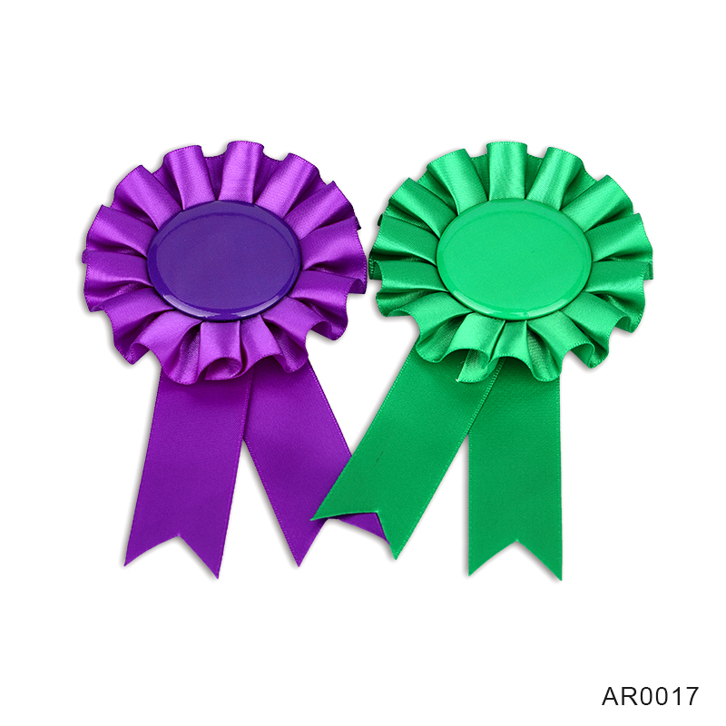 Blank Cheap Award Ribbon Rosette Supplier