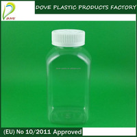 300ml plastic protein powder container 300ml plastic bottles with plastic screw cap for bottle