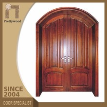 High Level Best Design Arch Shape Top Solid Expensive Wood Door