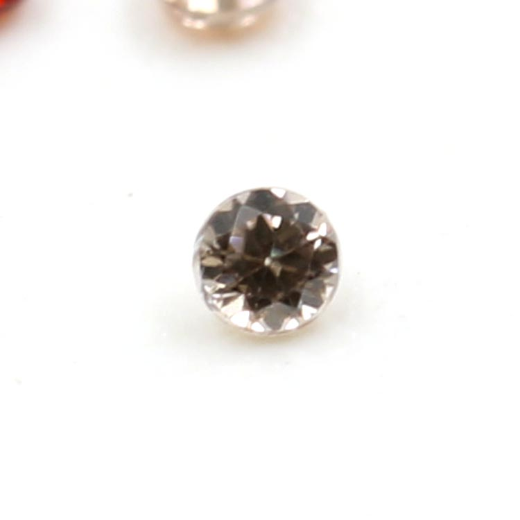 best price 1.25mm round shape natural loose Zirconia gemstone