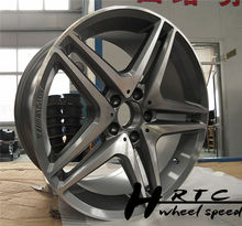 New!2014 new design black/chrome replica AMG car rim wheel