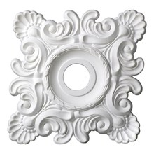 "Hot Selling Products Architectural Interior Decoration 18"" PU Square Ceiling Medallion For Modern House Design 3056"