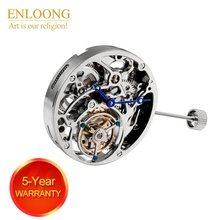 ENLOONG Real Tourbillon Movement Men Luxury with Hand Winding19 Jewels ELT3350 flying tourbillon movement