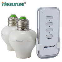 YE27-GRC 1N2 Disconnect E27 Lamp Holder 2 Channel Learning Code Remote Controlled Bulb 100W