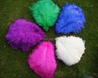 Factory direct sale 35-40cm dyed and white Ostrich feathers for wedding/ party/ headdress/ mask decoration